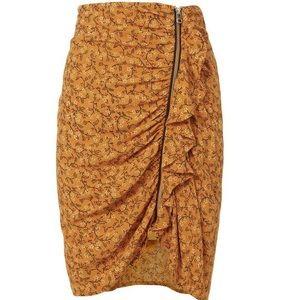 NWT. veronica beard zipper skirt